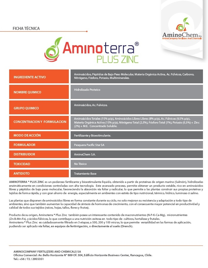 Agroenfoque - Aminoterra® Plus Zinc