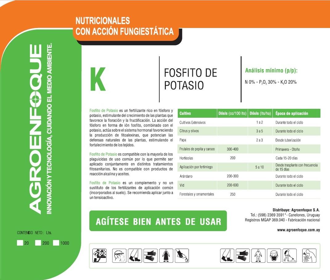 Agroenfoque - Fosfito de Potasio