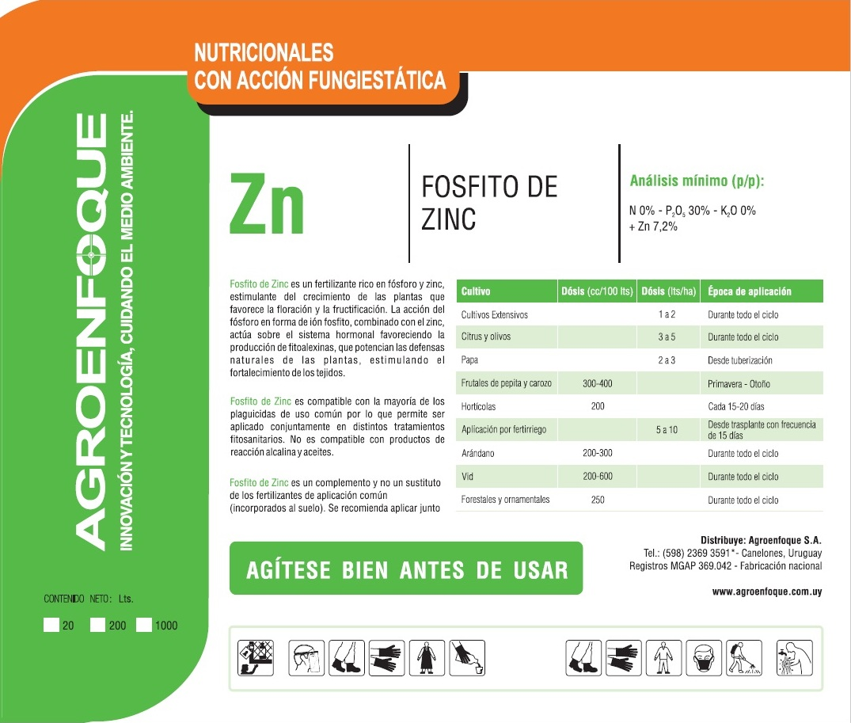 Agroenfoque - Fosfito de Zinc