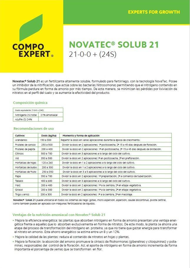 Agroenfoque - Novatec® Solub 21