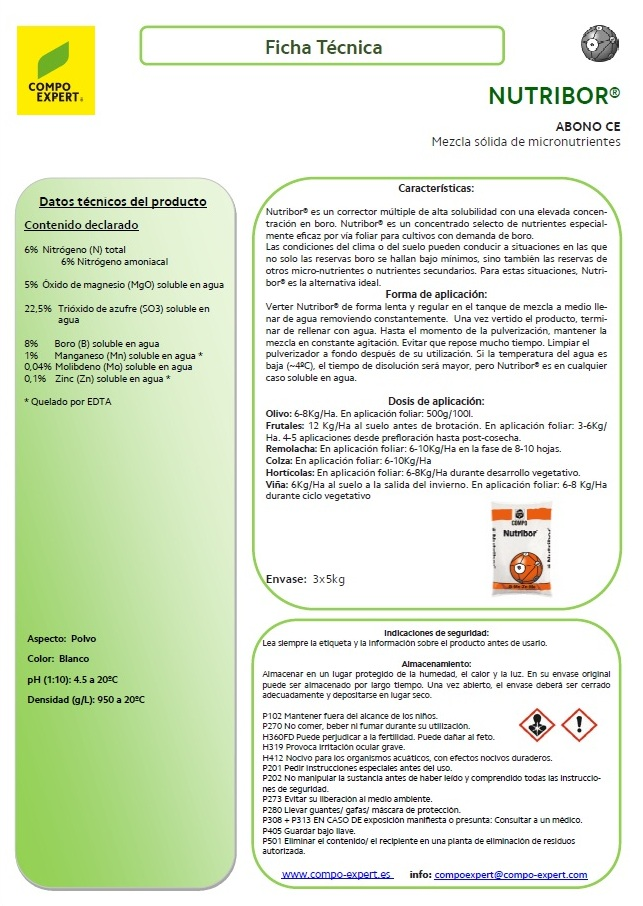 Agroenfoque - Nutribor®