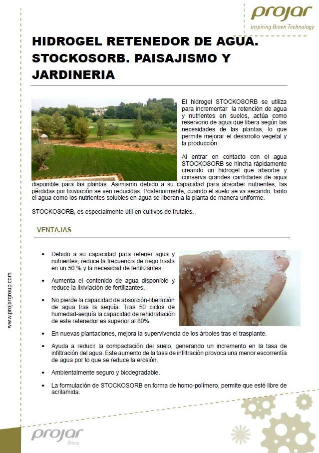Agroenfoque - Stockosorb® XL